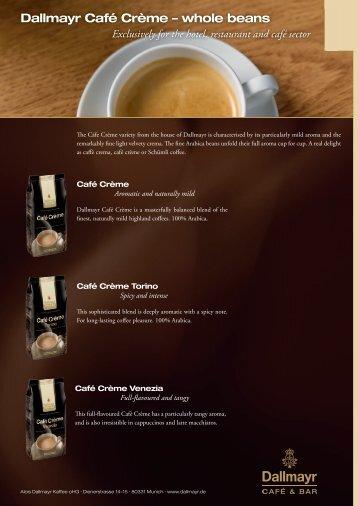Dallmayr Café Crème – whole beans - Alois Dallmayr Kaffee OHG ...