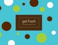 Catalog Summer and Fall 08 - Get Fresh