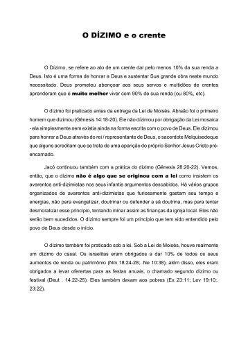 O Dízimo e o crente - Pedro Almeida - The Baptist Link