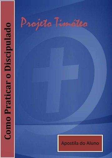 unidade um – assistência aos novos convertidos - Projeto Timóteo