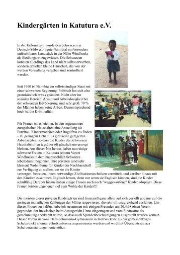 Kindergärten in Katutura e.V. - CSG