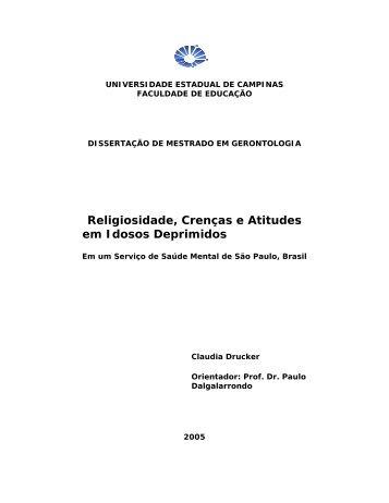 Religiosidade, Crenças e Atitudes em Idosos Deprimidos - AME-Brasil