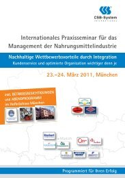internationales praxisseminar für das management ... - CSB-System