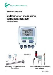 Multifunction measuring instrument DS 300 - CS Instruments
