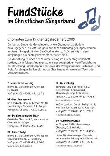 FundStücke - Christlicher Sängerbund Wuppertal