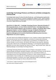 Cambridge Technology Partners und Sitecore schließen ...