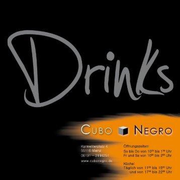 Download Getränkekarte (pdf - ca. 1,5MB) - CUBO NEGRO
