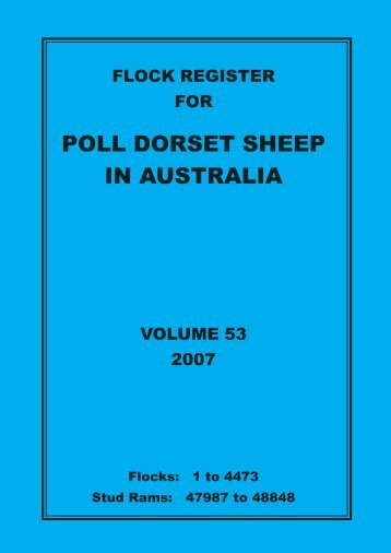 2007 flock register vol 53.pdf - Australian Poll Dorset Association Inc