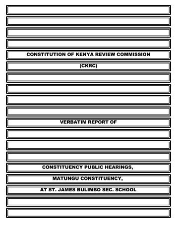 constitution of kenya review commission (ckrc ... - ConstitutionNet