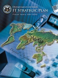 IT STRATEGIC PLAN - US Department of State