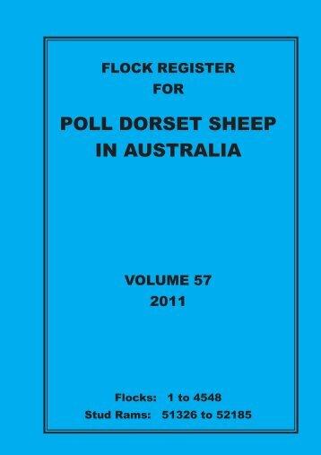 2011 flock register vol 57.pdf - Australian Poll Dorset Association Inc