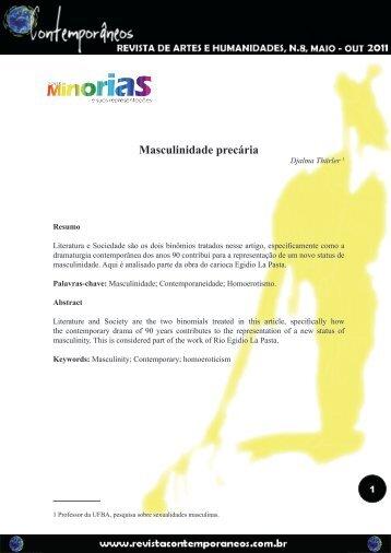 Masculinidade precária - Revista Contemporâneos