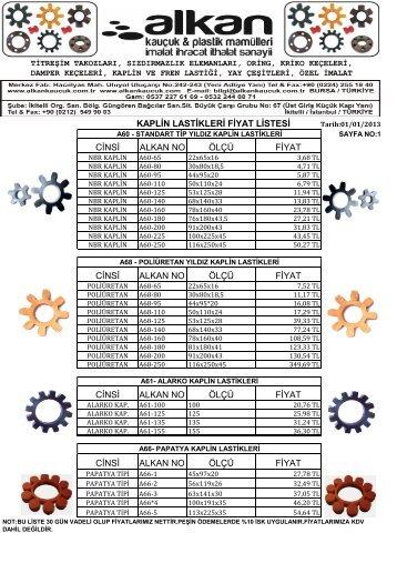 kaplin lastiği fiyat listesi / 2013