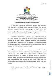 Poética & Filosofia Cultural - Fernando Pessoa - Unifap