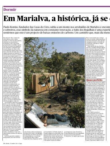 Em Marialva, a histórica, já se d - Casas do Côro