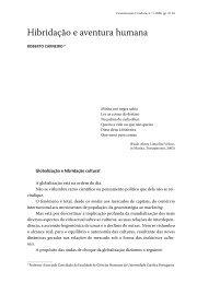 Hibridação e aventura humana - Revista Comunicação e Cultura