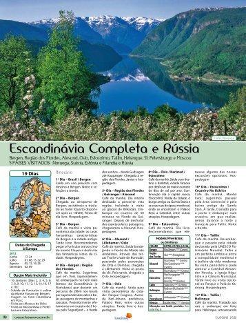 Escandinávia Completa e rússia - Lusanova