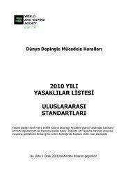2010 yılı yasaklılar listesi ve uluslararası standartları