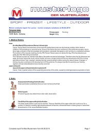 MOTIONQUEST Professional sample report as PDF - currex