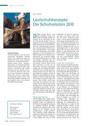 Laufschuhkonzepte: Die Schuhvolution 2010 - currex