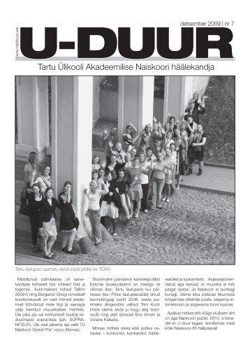 ajaleht nr. 7 - Tartu Ülikooli Akadeemiline Naiskoor