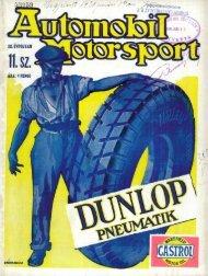 Automobil motorsport 1928 3. évfolyam 11. szám - EPA