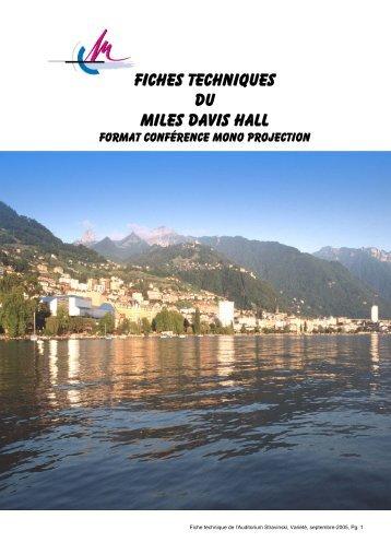 Données techniques - Montreux Music & convention centre (2m2c)