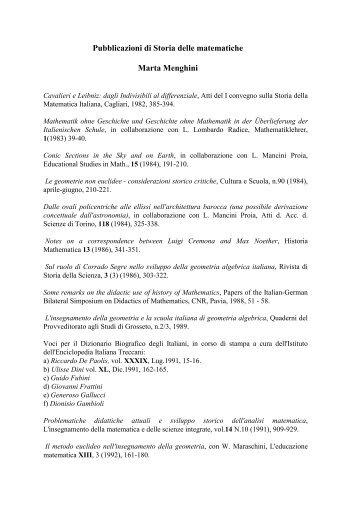 Menghini Marta - Matematica