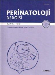 Adobe Pdf - Perinatoloji Dergisi