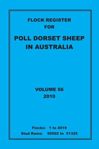 poll dorset sheep in australia - Australian Poll Dorset Association Inc