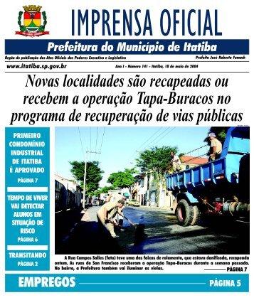18 de Maio - Prefeitura de Itatiba