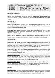 39ª Reunião Ordinária – 14 de novembro de 2011 (às 20:00 horas)