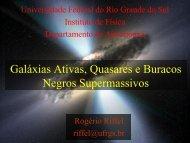 Galáxias Ativas, Quasares e Buracos Negros supermassivos. - ufrgs