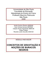 CONCEITOS DE GRAVITAÇÃO E NOÇÕES DE BURACOS NEGROS