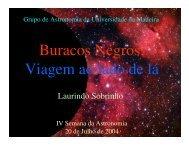 Buracos Negros: Viagem ao lado de lá - Universidade da Madeira