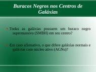 Buracos Negros nos Centros de Galáxias - UFSM