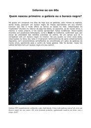 Quem nasceu primeiro: a galáxia ou o buraco negro - Observatório ...