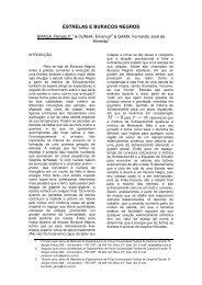 ESTRELAS E BURACOS NEGROS