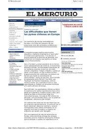 Las dificultades que tienen las pymes chilenas en Europa - 2thePoint