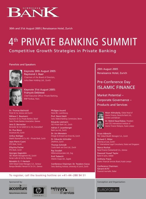 4th PRIVATE BANKING SUMMIT - 2thePoint