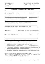 Personalbogen für Kinder- und Jugendfreizeiten - CVJM Coswig