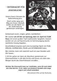 Osternacht 2011 - CVJM Coswig