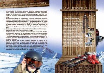 Ausschreibung SkiFreizeit 2013 - CVJM Coswig