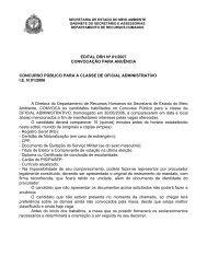 Edital DRH Nº 01/2007 Convocação para Anuência - Secretaria do ...