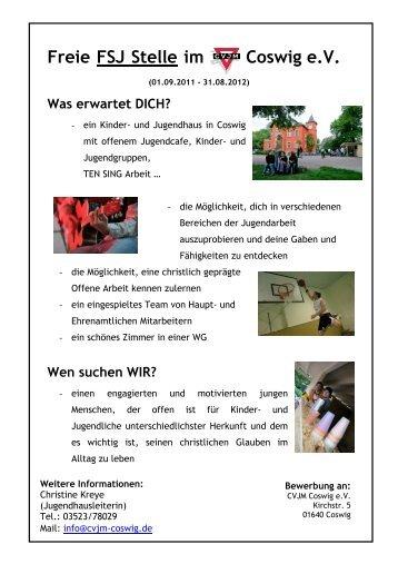 A4 Plakat FSJ 2011 - CVJM Coswig