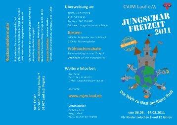 Jungschar freizeit - CVJM Lauf