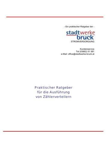 Anschlussbeurteilung Parallelbetrieb ... - Stadtwerke Bruck an der Mur