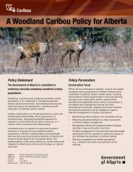 A Woodland Caribou Policy for Alberta - Sustainable Resource ...