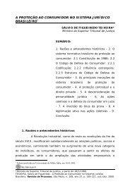 CÓDIGO DE DEFESA DO CONSUMIDOR E O NOVO ... - eGov UFSC