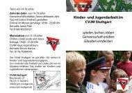 Kinder- und Jugendarbeit im CVJM Stuttgart